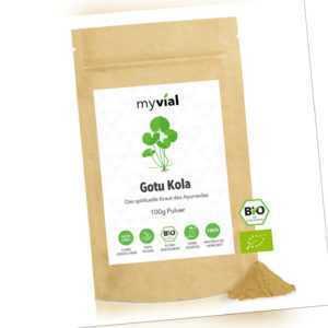 Gotu Kola Pulver Bio 100g - Vegan - 100% rein & natürlich - Ohne Zusätze