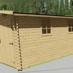 Holzgarage 28mm Garage Holz mit Holztor - 3.3x5.1M  Emmen EB28030