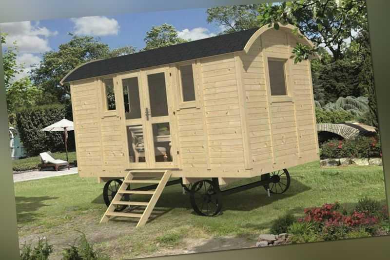 Bauwagen mit Seitentür 240 x 500 cm Zirkuswagen inkl. Dachbedeckung Holzwagen