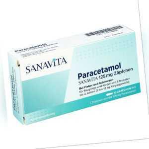 Paracetamol Sanavita 125 mg Zäpfchen 10stk PZN 14416388