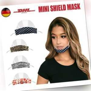 1 Stück Gesichtsschild Face Shield Visier Mund Nasen Schutz Schutzvisier HOT!