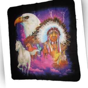 Indisch Indianer Weißkopfseeadler Pferd Brautvater 50x60 Polar