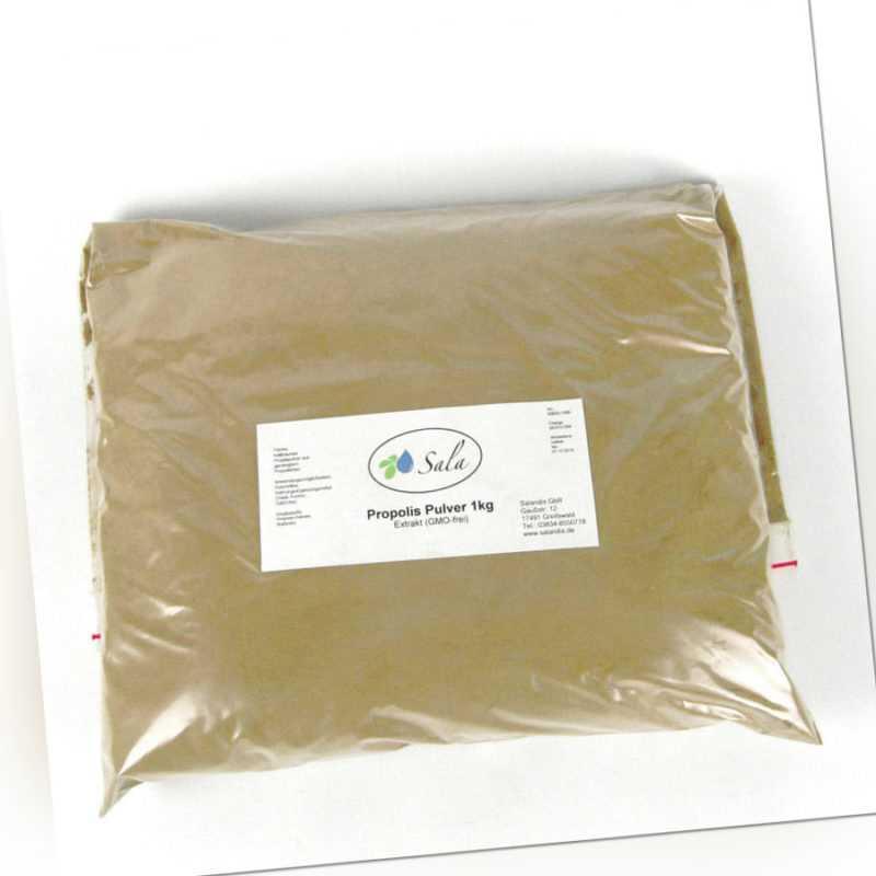 (89,90 EUR/kg) Sala Propolis Pulver Extrakt Propolispulver konv. 1000 g 1 kg