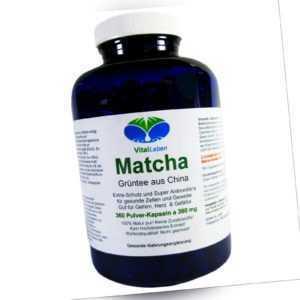Matcha Grüntee aus China 360 Pulver Kapseln Ohne Zusatzstoffe Natur Pur. 25497