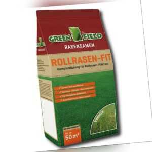 Greenfield Rollrasen-Fit Mantelsaat® 3 kg Rasensamen Grassamen Rasen Samen Gras