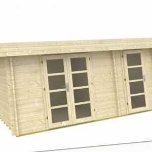 Topangebot Gartenhaus 40 mm Fredrikstad 40 ca. 470 x 320 cm 2 Räume, ISO-Glas