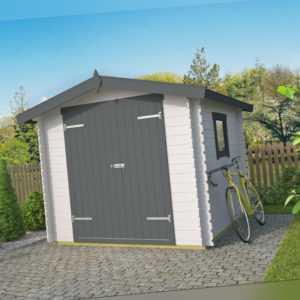 19 mm Gerätehaus ca. 250x250 cm Gartenhaus Geräteschuppen Holzhaus Holz Schuppen
