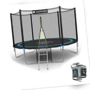 Gartentrampolin 2,44m  (244cm) Trampolin Komplettset mit Netz und Leiter