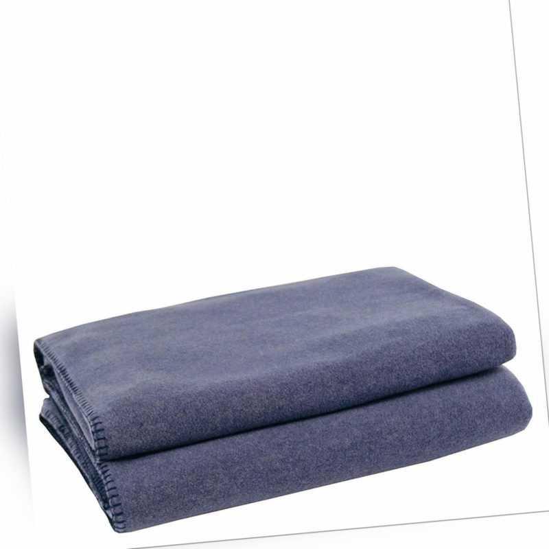 Zoeppritz Soft-Fleece Kuschel Decke 160x200 col. 540 blau meliert