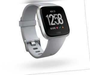 Fitbit Versa grau/silber Fitnesstracker Smartwach Größe S/P & L/G OVP