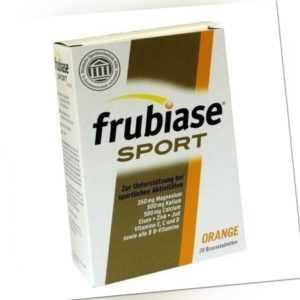 FRUBIASE Sport Orange Brausetabletten 20 Stück PZN 00737396 plus Probe