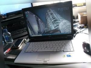 "Fujitsu Lifebook S7220 14"" Notebook Dual Core 2,53GHz-4GB-160GB HDD-3G-Win 10"