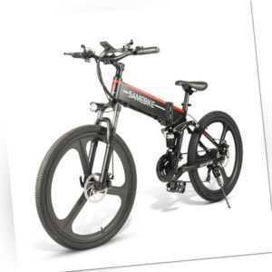 26 Zoll Elektro-Fahrrad E-Bike Scooter Trekking Citybike Klappbar 350W Motor 48V