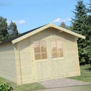 Gartenhaus Bremen 4 Gerätehäuser Holz Gartenhütte Blockhaus Holzhaus 3x4m 34mm