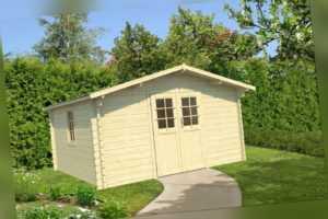 44 mm Gartenhaus 400x400 cm Gerätehaus Holzhaus Schuppen Holzhütte Holz NEU