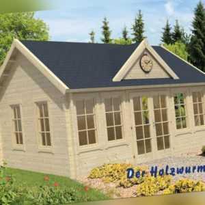 70 mm Gartenhaus ca. 550x400 cm Blockhütte Holzhaus Ferienhaus Gerätehaus Holz