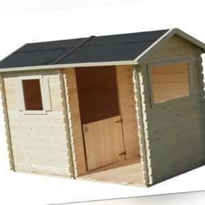 SOULET Spielhaus Magda mit Anbau Garten Holzhaus Outdoor Kinderspielhaus