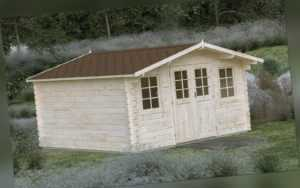 44 mm Gartenhaus Gera INKLUSIVE Montage ca 4x4 m Aufbau Gerätehaus Holz Holzhaus