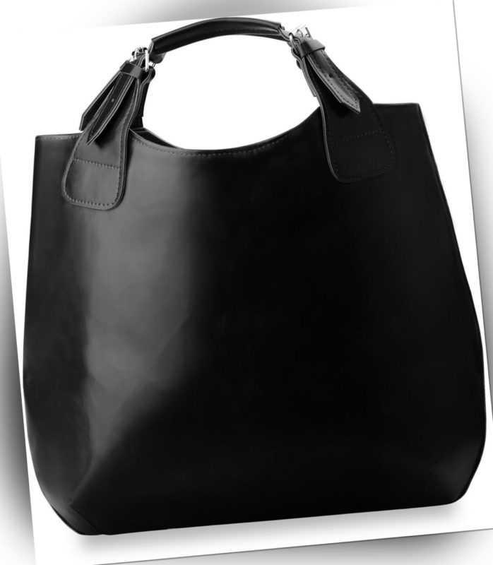 Modische geräumige Handtasche Shopperbag schwarz