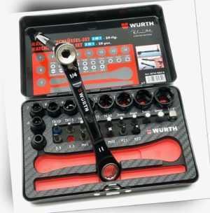 Würth Limited Edition 3 in 1 Ratschenschlüssel Set 29-teilig NEU 07142020