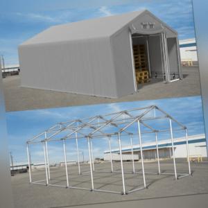 LAGERZELT 4x8 - 8x12m Industriezelt PVC 600g/m2 Lagerhalle Garagenzelt Weidezelt