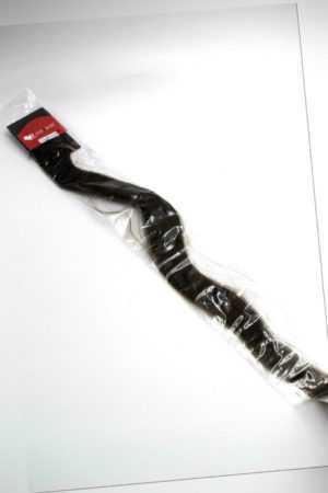 hair2heart 150 x 0.5g Echthaar Microring Loop Extensions, 60cm glatt #2 dunkelbr