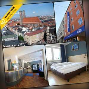 Städtereise München 4 Tage 2 Personen a&o Hotel Hotelgutschein Kurzurlaub Reise