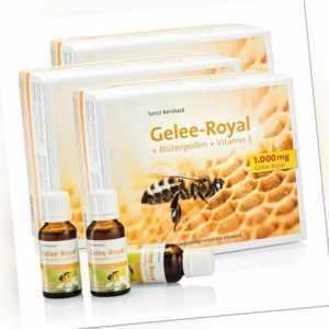 Gelee-Royal + Blütenpollen + Vitamin-E-Trinkfläschchen 3er-Pack (47,93€/L)