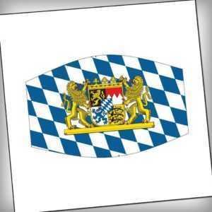Bayern mit 2 Löwen Wappen Maske Mundschutz Mund-,Nasenschutz Freistaat Bayern
