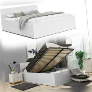 Bett mit Lattenrost Jugendbett Doppelbett mit/ohne Matratze Bettkasten