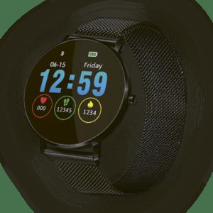 Fitnesstracker mit Herzfrequenz Puls Blutdruck Schlaf Schritte Farbdisplay