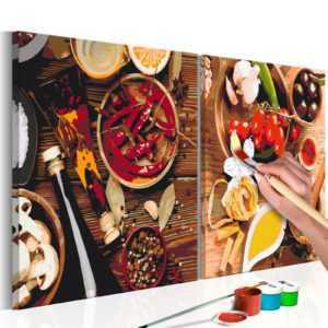 Malset mit Holzrahmen 80x40 Leinwand Erwachsene Gemälde Kit DIY n-A-0237-d-r