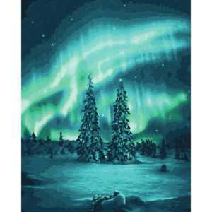 Polarlichter - Schipper Malen nach Zahlen Meisterklasse Premium 40x50cm DIY