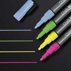 Sigel GL179 Kreidemarker Pink, Grün, Gelb, Blau 1 mm 4 St./Pack.
