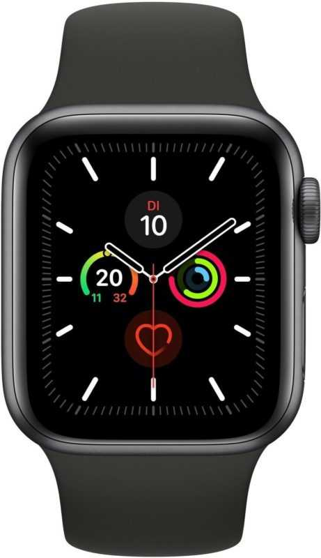 Apple Watch 5 spacegrau Alu 44mm sport schwarz 4G iOS Smartwatch Fitness Tracker