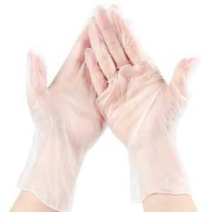 3X(Klare Handschuhe zum Einmalgebrauch - Telefon BerüHrbar, Puderfrei, Late7R8)