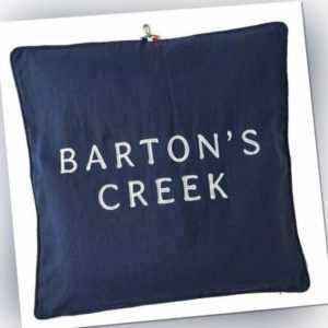 Riviera Maison Kissenhülle Bartons Creek Navy (60x60cm)
