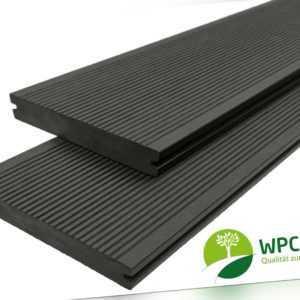 WPC Terrassendielen Massiv Handmuster Muster 20 mm x 15 cm anthrazit Premium