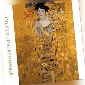 Ölgemälde Damen Bild nach Zahlen Malen DIY Leinwand Bilder Dekor Wand Heim