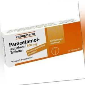 PARACETAMOL ratiopharm 500mg 20 Tabletten PZN: 1126111