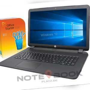 HP Notebook 17 Zoll AMD 2 x 3,5Ghz - 8GB - 256 SSD -Win10 - MS Office - DVD-RW