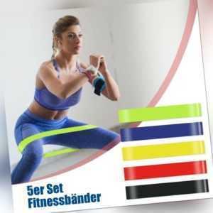 5er Set Fitnessbänder Sport Widerstandsband Fitnessband Gummiband Gymnastikband