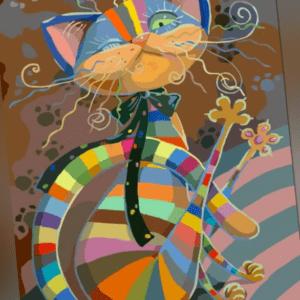 Malen nach Zahlen - Acryl Öl Malerei - Katze 40x50 cm