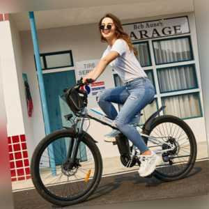 E-BIKE Elektrofahrrad 26 Zoll Klapprad Mountainbike 21-Gang Shimano 250W Motor