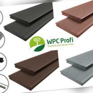 WPC Profi Terrassendielen Garten Premium Massiv Diele 20mm Bausatz Set 12 - 68m²
