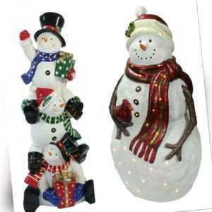 riesige beleuchtete Weihnachtsfigur für Innen und Außen - LED Schneemann
