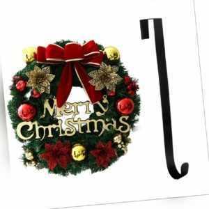 30cm Weihnachtskranz Türkranz Weihnachten Kranz Weihnachtsdeko StarkeMetallhaken