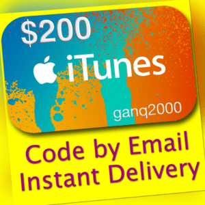 $200 APPLE US iTunes GIFT CARD voucher certificate FAST (USA Store) 100% Genuine