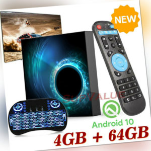 T95 Android 10.0 4+32G/64G Quad Core 6K Smart TV BOX WIFI Netzwerk Media Player