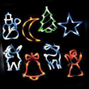 LED Fensterbild Fenstersilhouette Silhouette Fenster Leuchtbild Weihnachtsdeko